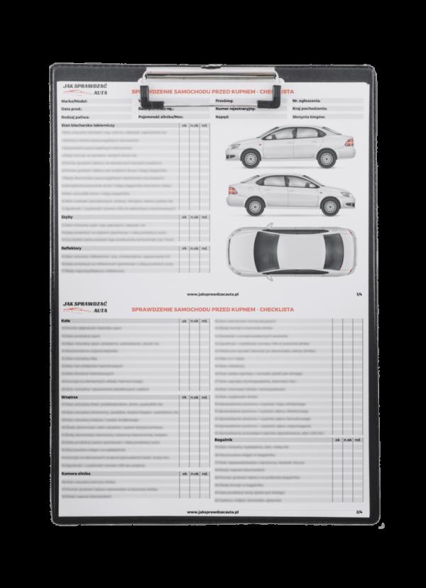checklista - sprawdzenie samochodu przed kupnem